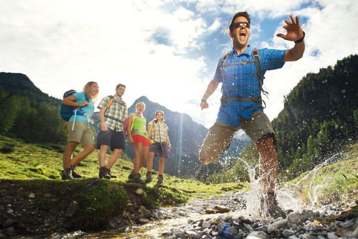 Wandern im Sommerurlaub in Flachau, Salzburger Land